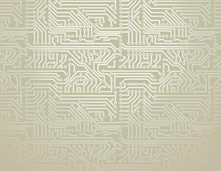 zilver printplaat achtergrond Stock Illustratie