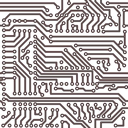 seamless pattern - electronic circuit board background Illustration