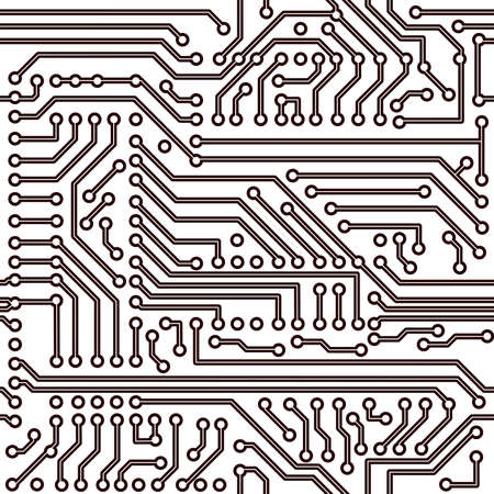 schematic: seamless pattern - electronic circuit board background Illustration