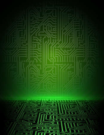 electronic background: Vector green energy electronic background. eps10