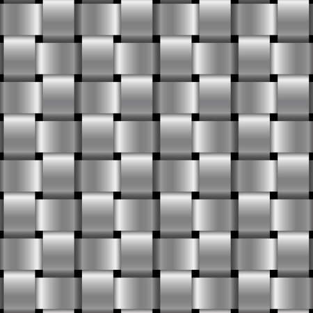 metal wicker seamless pattern