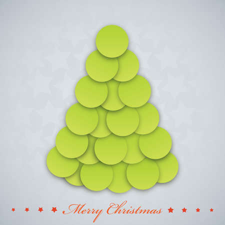 Vector modern  Christmas tree. Xmas card. Vector