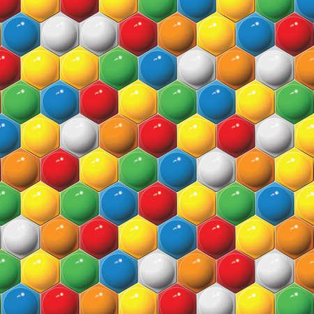 Plastic children s hexagon mosaic  Vector background  Stock Vector - 17513125