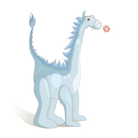 Cute cartoon dragon. Vector illustration. Stock Vector - 17513127