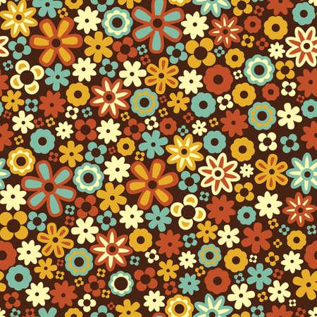 シームレスな花パターンのベクトルの背景  イラスト・ベクター素材