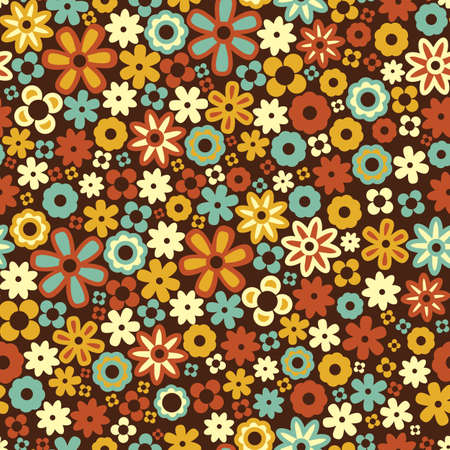 Vector seamless flower pattern background Vector