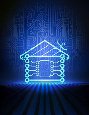 electrical wires: home automation background