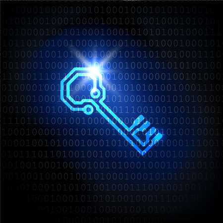 The key and binary code password. background.
