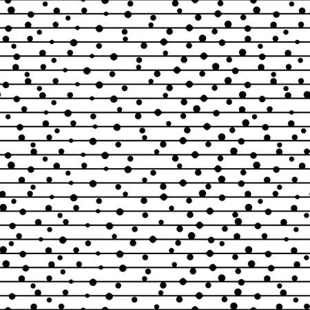 seamless pattern. Repeating  dotted lines. Vector