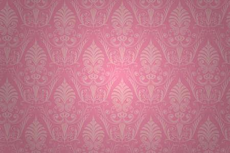 ダマスク織のシームレスなパターン。壁紙の背景です。
