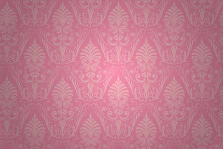 Damask seamless pattern. wallpaper background. Vector