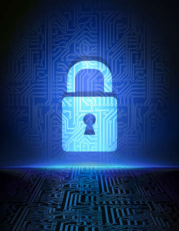 Cyber security concept background  일러스트
