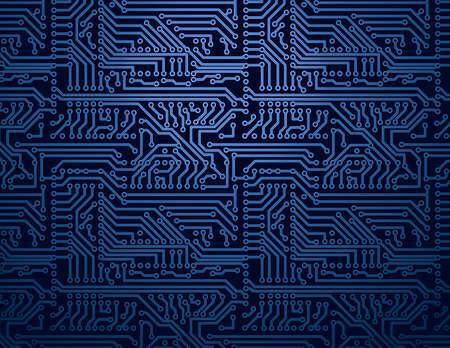 Vector blauwe printplaat achtergrond Stock Illustratie