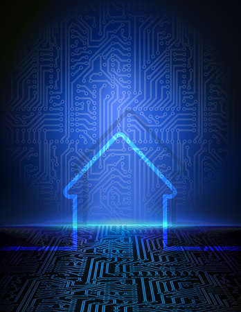 automated: Smart house abstract background