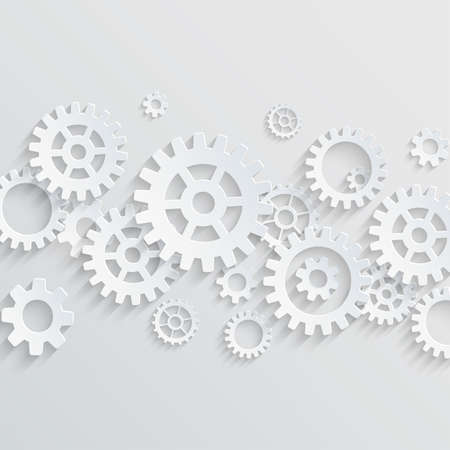 Vector gears and cogs background