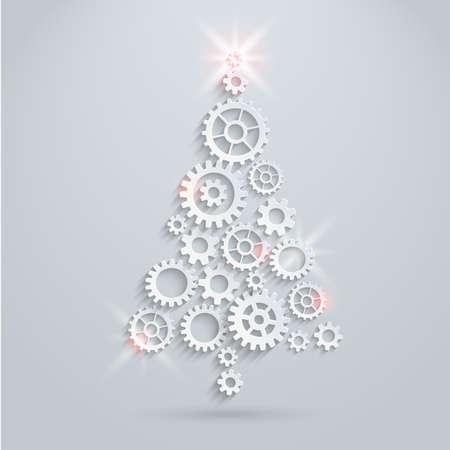 industrial mechanics: Mec?nica ?rbol de Navidad Vectores