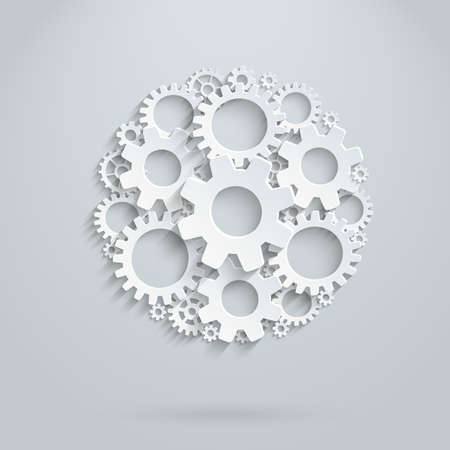 Vector infographic template made of gears