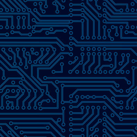 pcb: Vector circuit board seamless pattern
