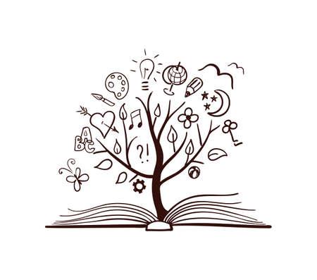 convivencia escolar: Vector árbol de la ciencia