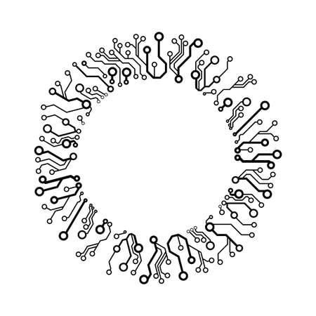 circuit circle Vector Illustration