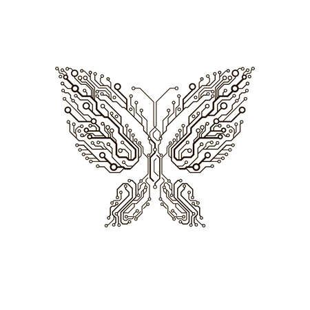 Circuit papillon Banque d'images - 61116166