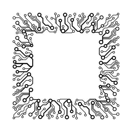 technologie eenvoudige achtergrond. Frame gemaakt van de printplaat patroon