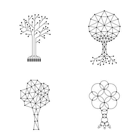 set trees made of connected dots