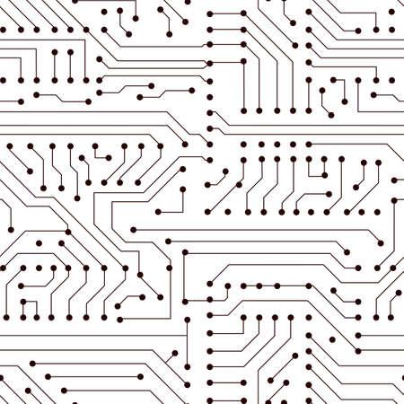 Vector seamless circuit board pattern