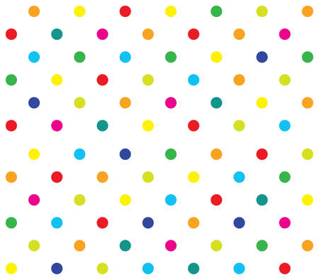 Vector seamless polka dot girl kids pattern