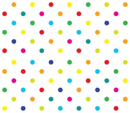 yellow: Vector seamless polka dot girl kids pattern