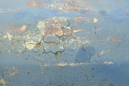 Metal texture with scratches and cracks,Rusty metal with blue paint