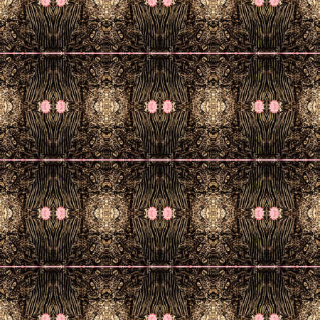 Seamless Design Of Textured Gothic Pattern Wallpaper Background Stock Photo