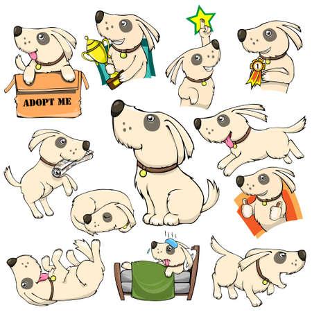 Dog Attività azioni indicate Pacchetto Cartoon