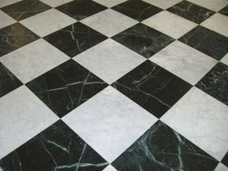Floor with Marble Chess Table Layout Archivio Fotografico