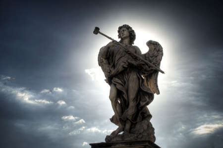 Mystic Angel over the Sant'Angelo Bridge in Rome (Italy)