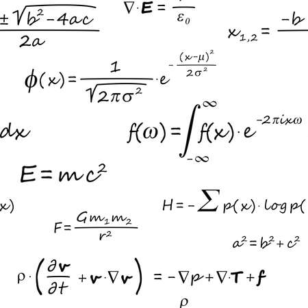 Scientific Formulas Seamless Pattern Banque d'images