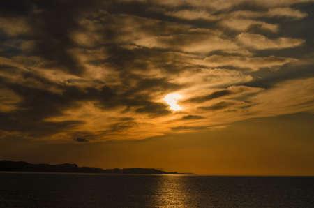 kerkyra: sunset in kerkyra