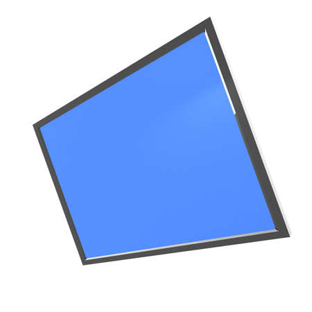 flatscreen: black electronic tablet with a blue screen. 3D computer rendering Stock Photo