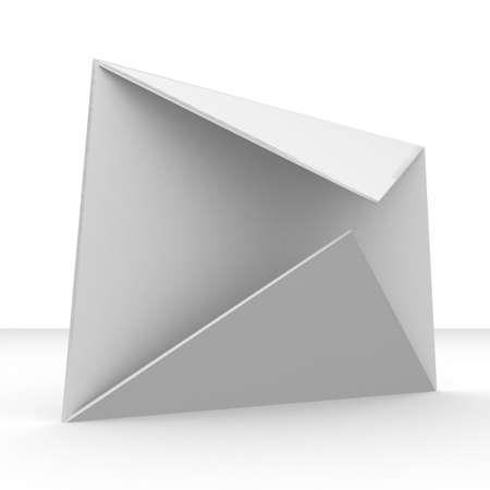 mailing: open mailing envelope on white background Stock Photo