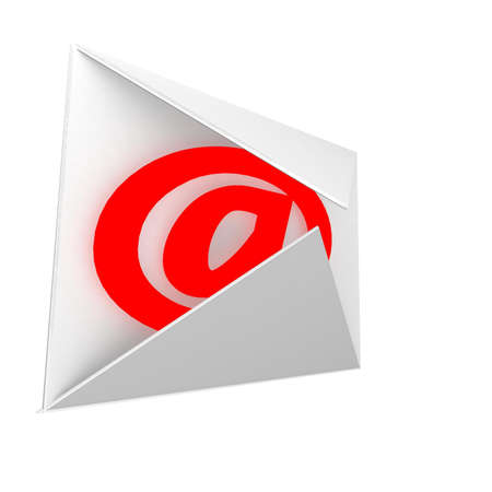 mailing envelope within which the sign of the Internet Dog Stock Photo - 8264951