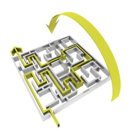 various ways of passing the maze Stock Photo