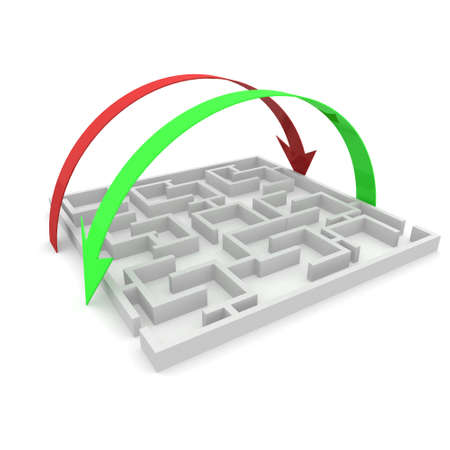 puzzling: maze on which the arrows are