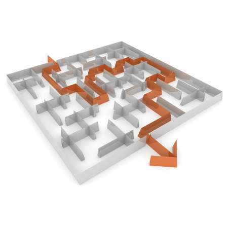 puzzling: way to exit with an arrow through the maze