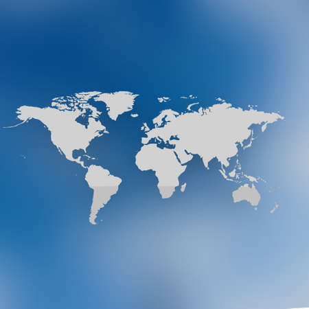detailed map of the world Stockfoto