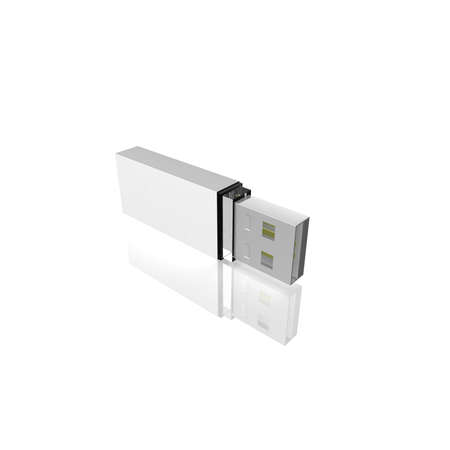 computer simulation: computer flash drive on a white background. computer Simulation