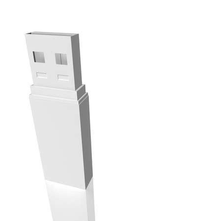 simulation: computer flash drive on a white background. computer Simulation