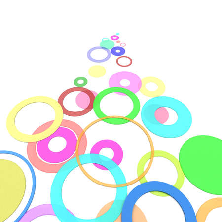 computer simulation: colored circles on a white background. computer Simulation