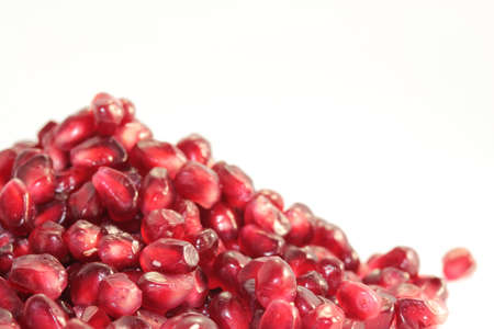 garnet berries on a white background photo