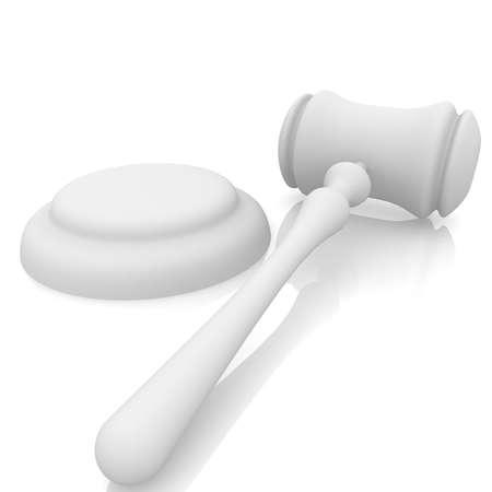 honestidad: jueces martillo y destacan sobre un fondo blanco
