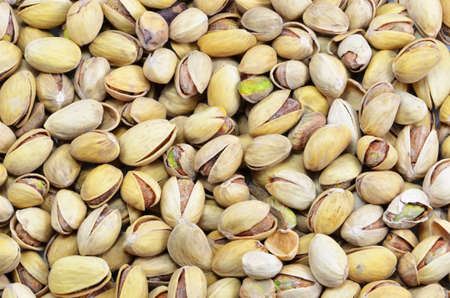 imposed: imposed a bunch of pistachios on a white background